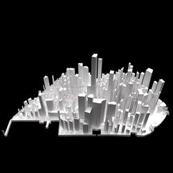 Architect Complex Scale Model Creation 1:2500 - 3D Printed On-Demand -> Custom Product in MOQ