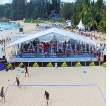 Movable grandstand bleacher assemble stadium seats Volleyball Court beach games