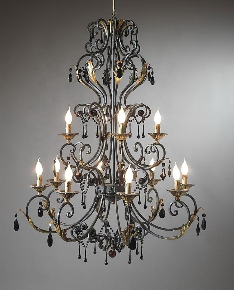 Wrought Iron Chandelier / Hanging Chandelier / Chandelier Light