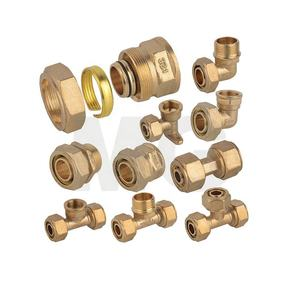 Sleeve Type Brass Pipe Fitting for PEX-AL-PEX Natural Gas Pipe 25mm pex fitting 90 degree elbow reducing brass fitting pipe