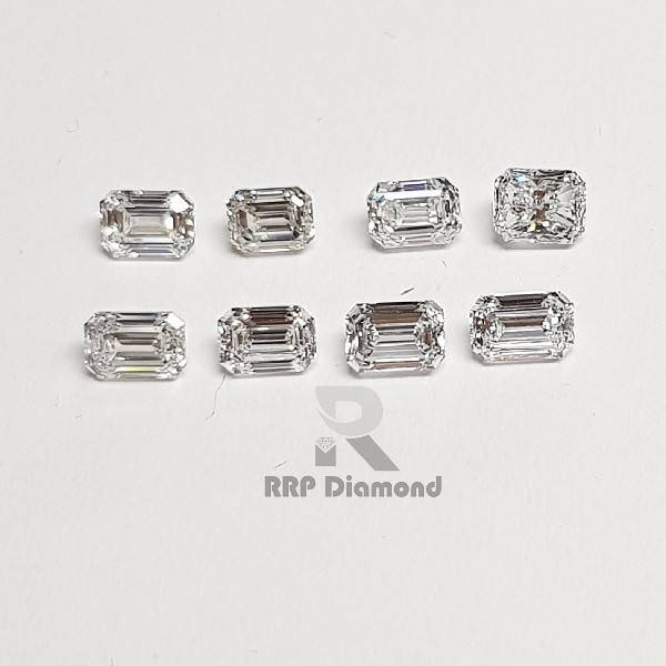 Synthetic Diamond DEF COLOR 0.40 TO 0.49 Carat VS PURITY Polished Loose Excellent Cut White Emerald Fancy Shape Diamonds