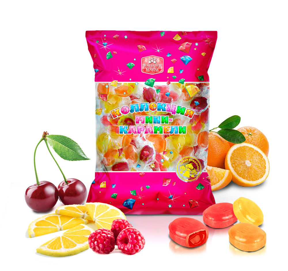 A018 Muvi apricot, orange, cherry, strawberry, lemon flavor caramel hard candy