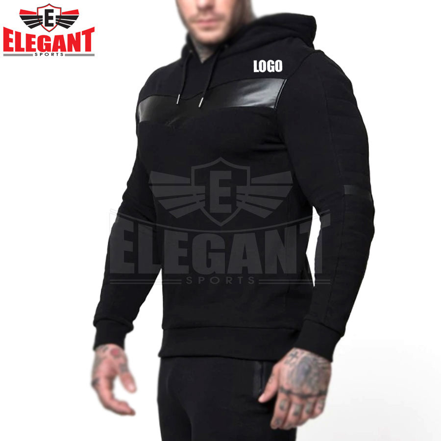New Custom Mens Sports Tracksuit with Jacket Top Pullover hoodie and Jogger Pants for Winter Outside Sports