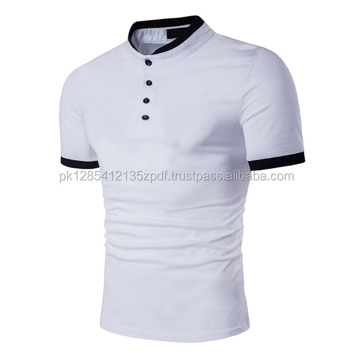 Men,s Collarless Casual Slim Fit Button Tops Shirt