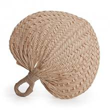 STRAW HAND FAN MADE BY HAND /NATURAL STRAW WOVEN ROUND HAND FAN TRADITIONAL HIGH QUALITY ORIGIN VIETNAM