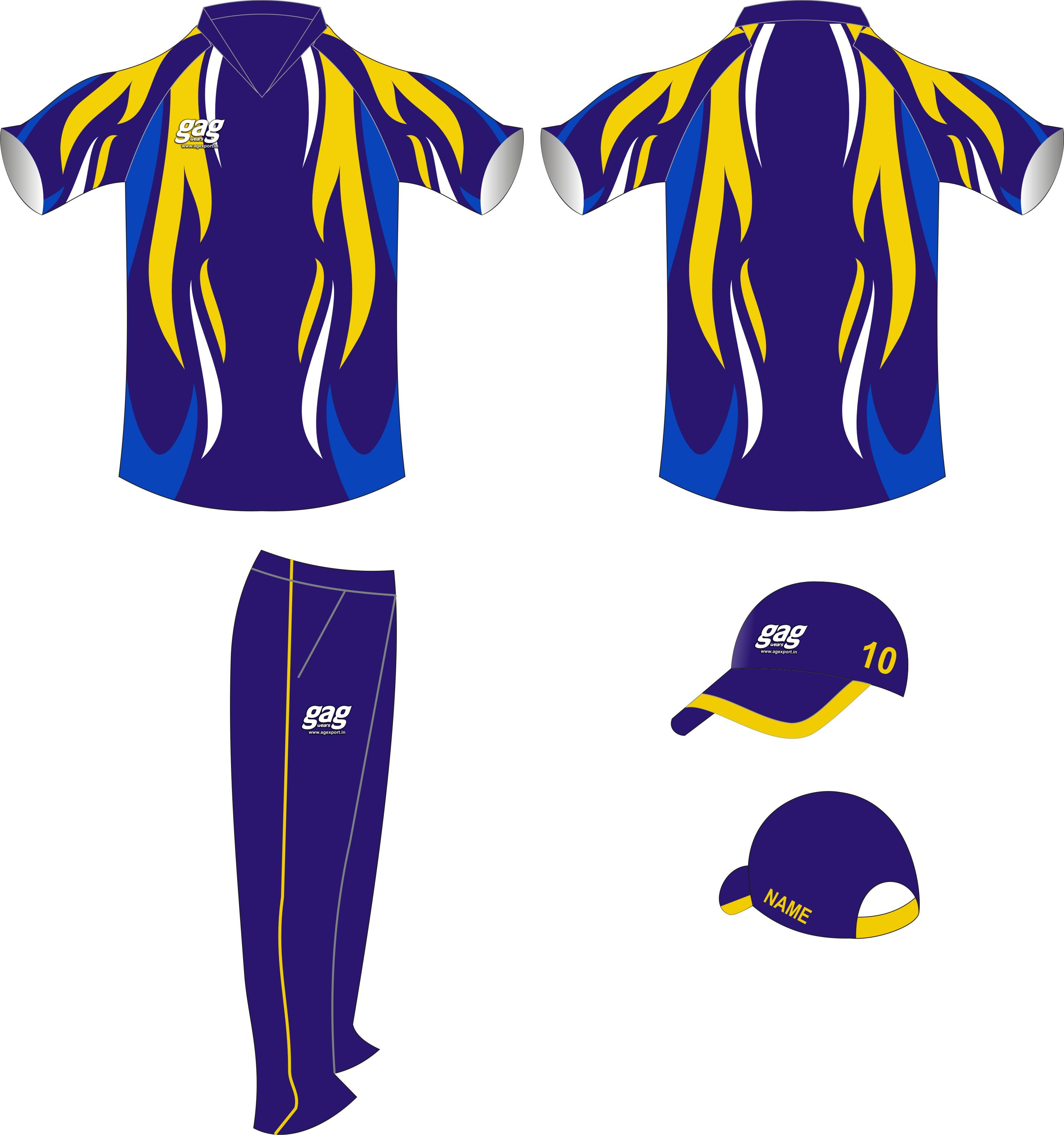 Top 10 Fashion Brands Best Design Sublimation Cricket Team Uniforms, Custom Cheap Cricket Jersey