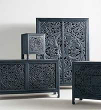 Carved Bedroom sets, night stand, wardrobe, dresser, mirror, cabinet
