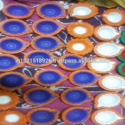 clay made earthen pot diya for decoration marriage purpose outdoor and indoor activities functions