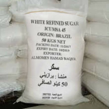 Cheap & High Quality Icumsa 45 White Refined Brazilian Sugar.