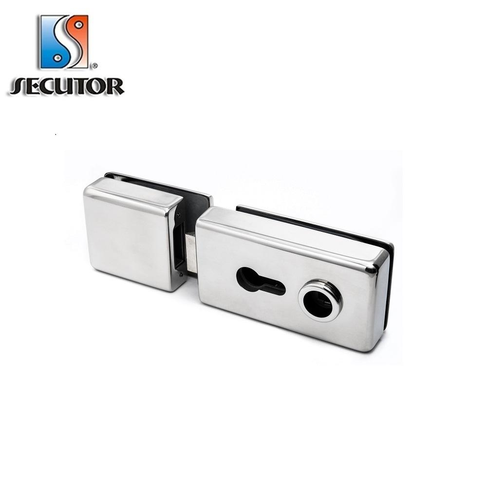 Frameless Glass Door Europrofile Patch Lock door lock cover