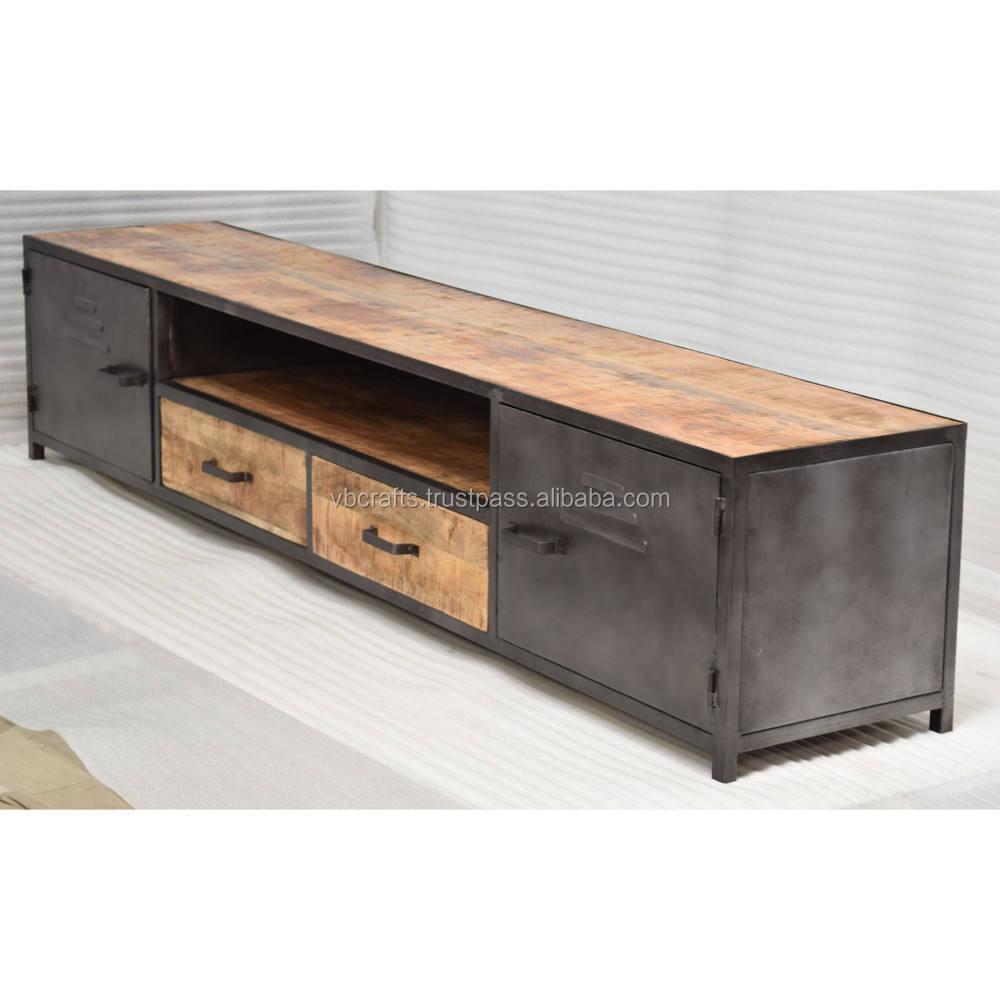 metal wooden retro vintage tv unit for home