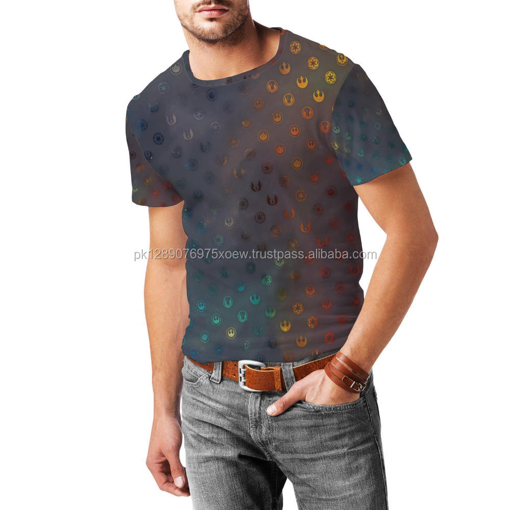 Sublimation 3D Handsome All over Printed T Shirt, Man Dry Fit Blank Sublimation T Shirt, Blank Popular All over T Shirt Men