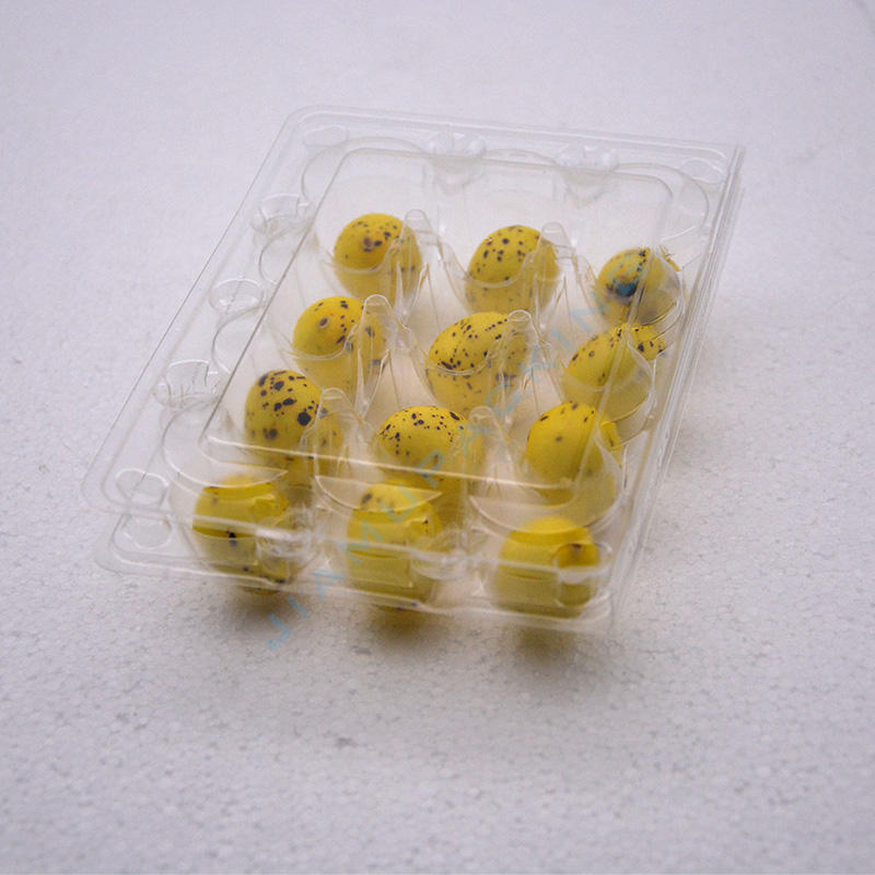 Wholesale plastic quail egg tray egg packaging cartons for 12 holes