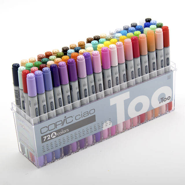 Beautiful lines can be drawn and funnry marker copic marker with multiple functions