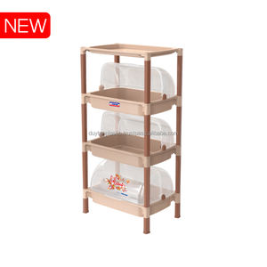 Kitchen 3 Layers Plastic Shelves With Cover - No.379/3 - DUY TAN PLASTIC