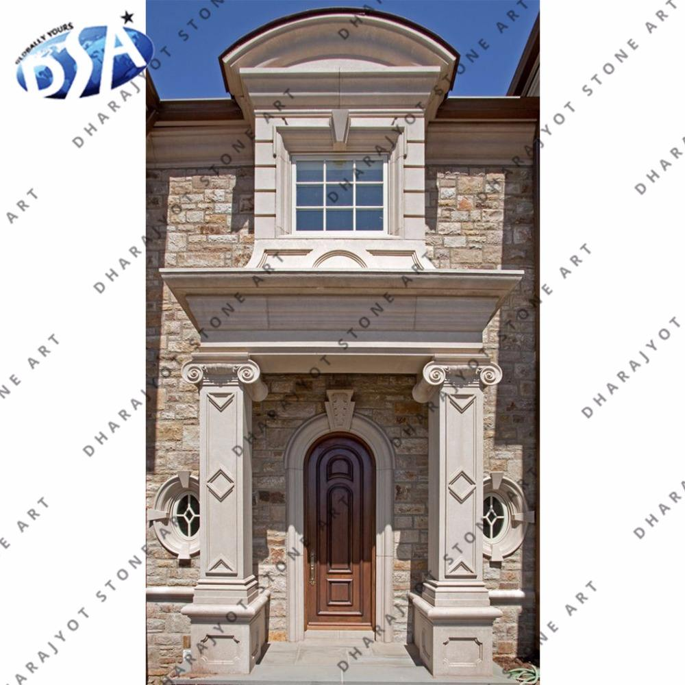 White Sandstone Simple Carved Door Surrounding
