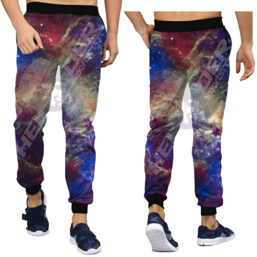 new galaxy pattern design sublimation unisex fashion training sweat printed jogging pants