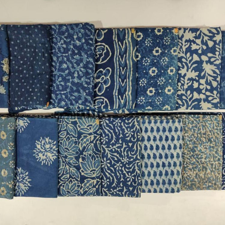 indian handmade printed cotton fabric wholesale jaipuri material textile