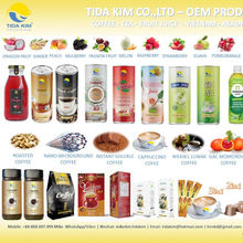 FRUIT JUICE TIDA KIM COCONUT COFFEE - MILK POKKA COFFEE TEA TIDA KIM-100%  -CAN BOTTLE YONG KIM OEM PRODUCITON  TIDA KIM
