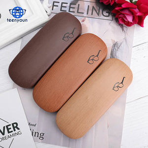 (High) 저 (Quality Wood Grain Hard Kit 홀더 Metal 독서 Glasses Case 대 한 Men 및 Women PU Leather 안경 상자 Free 배송 건