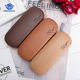 High Quality Wood Grain Hard Kit Holder Metal Reading Glasses Case for Men and Women PU Leather Eyeglass Box Free Shipping Cases
