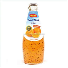 High Quality/ Best price OEM Juice Bottled Basil Seed Drink With Orange