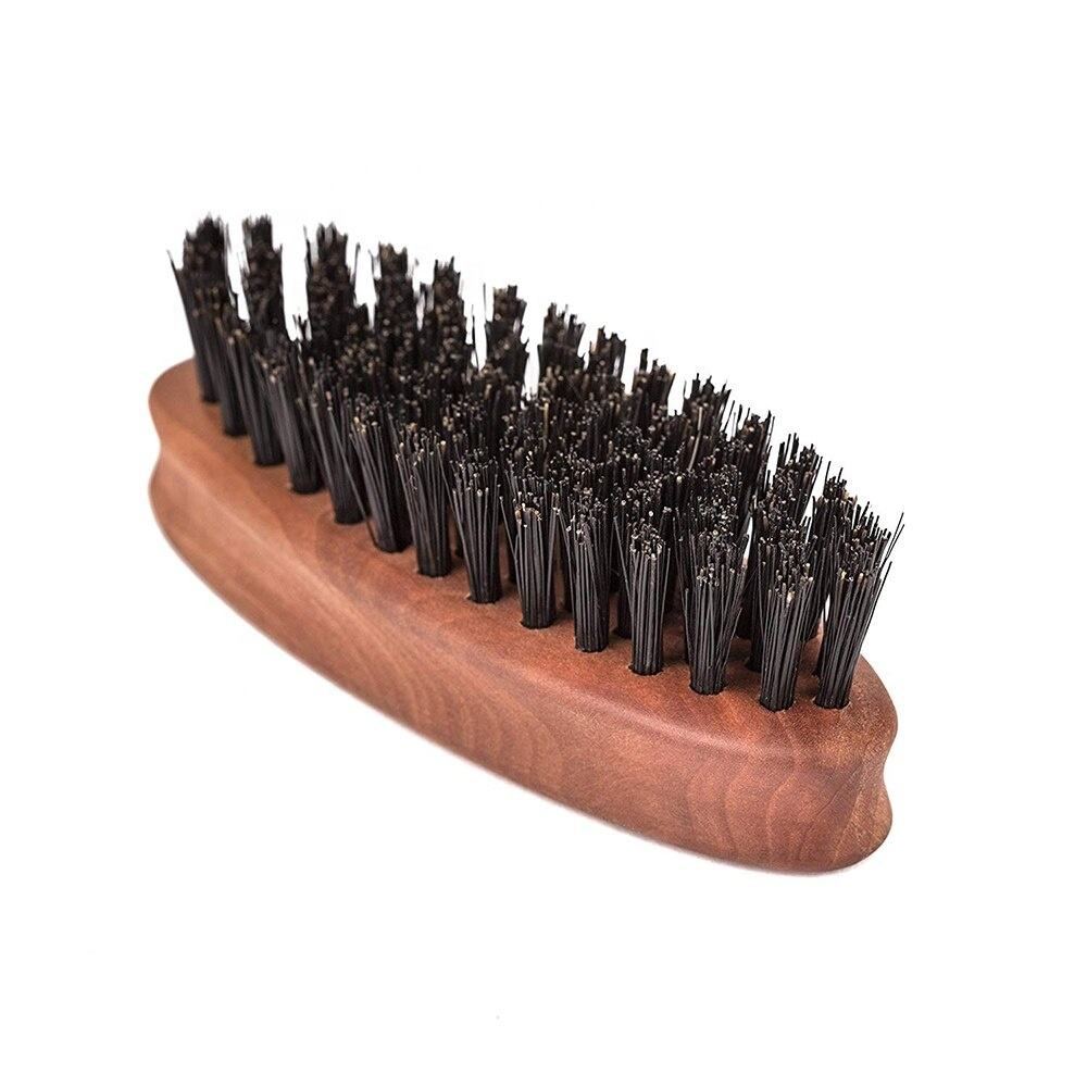 Custom wholesale boar hair bristle beard brush,wooden beard brush