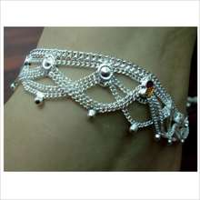 Multi chain metal anklet