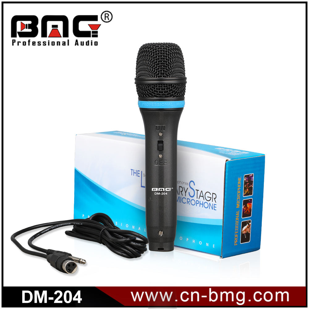 BMG Professionele Moving Coil Dynamische Cardioid Unidirectionele Vocal Handheld Microfoon Omvat 15ft XLR Audio Kabel tot 1/4