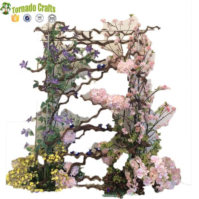 2017 Cheap Garland Green Leaf Artificial Flower Vines Natural Dried Branches Rattan Wreath DIY material Wedding