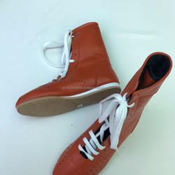 long boxing leather shoes - boxing shoes genuine leather - training boxing shoes