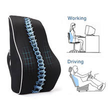 Memory Foam Car Back Support Cushion Ergonomic Lumbar Support Pillow to Relieve Sciatica Pain for Office Desk Chair Car Seat