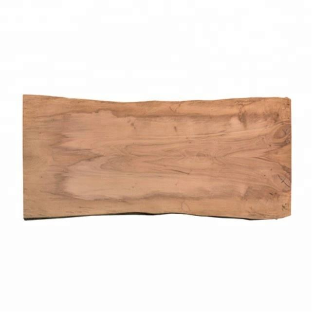 Natural Solid live edge wooden top/wooden live edge dining table top
