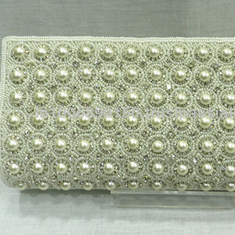 Attractive design Clutch Bag with Pearls