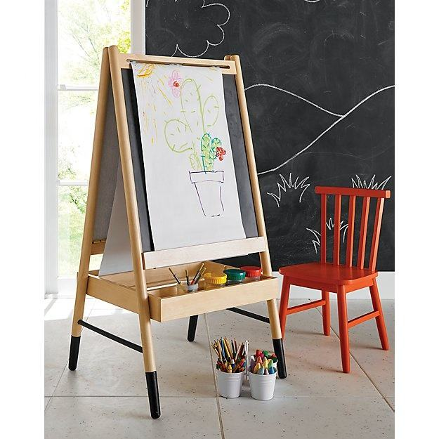 NO.4501 Factory Hot Selling Kids Wooden Art Easel