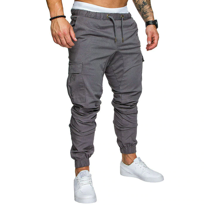Autumn Men Pants Hip Hop Pants 2019 New Male Trousers Mens Solid Multi-pocket Pants Sweatpants M-4XL