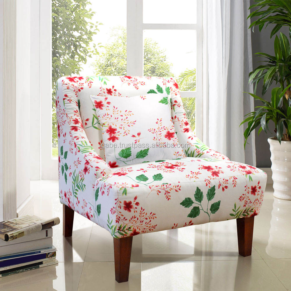 Sofa chair SLAVIA flowers mahogany wood furniture