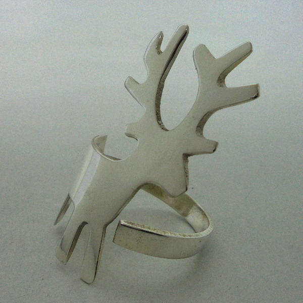 Silver Plating Brass Decorative Reindeer Napkin Ring