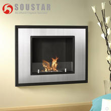 Indoor wall mounted ethanol heater fireplace insert