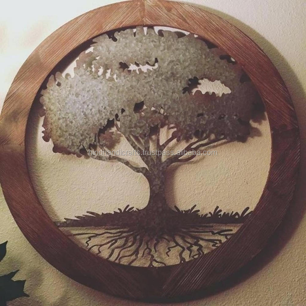 Decorative Hanging Copper Finish Tree Wall art