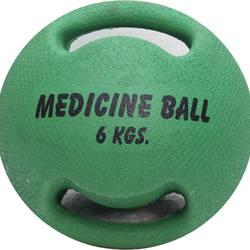 Customized Double Grip Handle Bouncable medicine balls