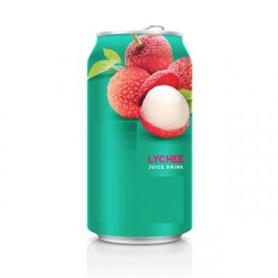 Canned Lychee Juice Drink - 330ml Canned Fruit Juice Wholesale