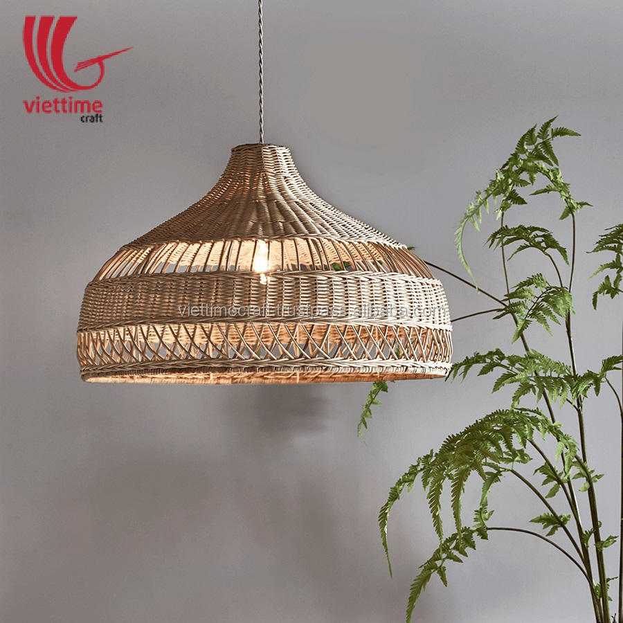 Wicker Basket Ceiling Rattan Lamp shade, Pedant Lampshade decor wholesale made in Vietnam