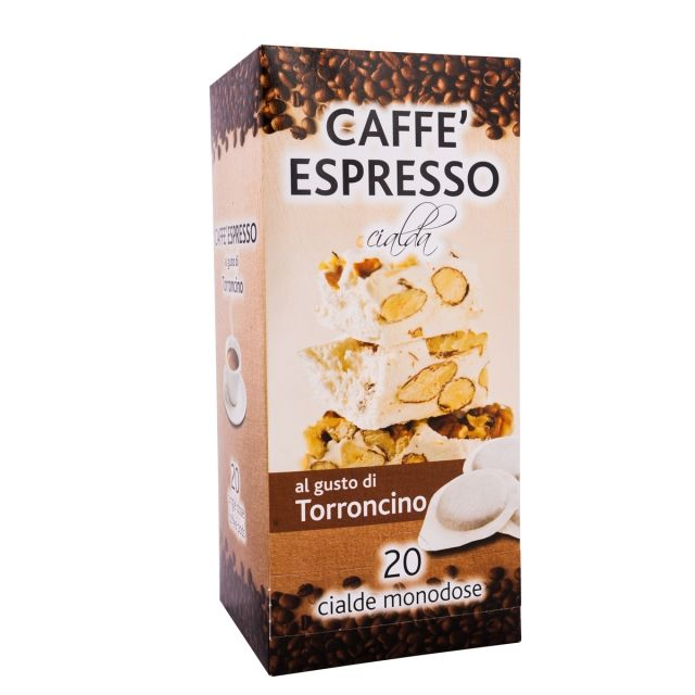 ITALIAN FLAVOR COFFEE PODS- 20 PODS BOX NOUGAT- GROUND COFFEE PODS