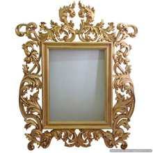 gold plated antique designer wall mirror