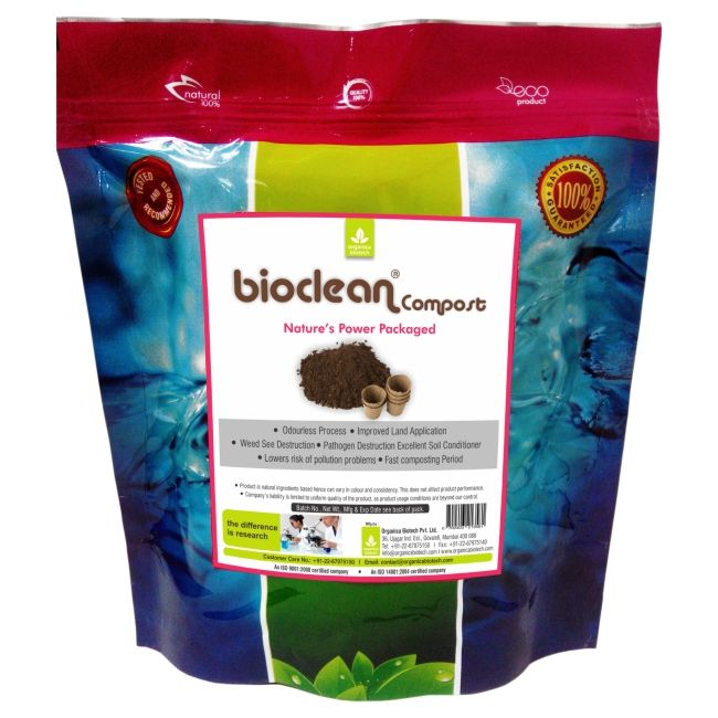 Organic Bokashi compost for degrading waste in kitchen or garden