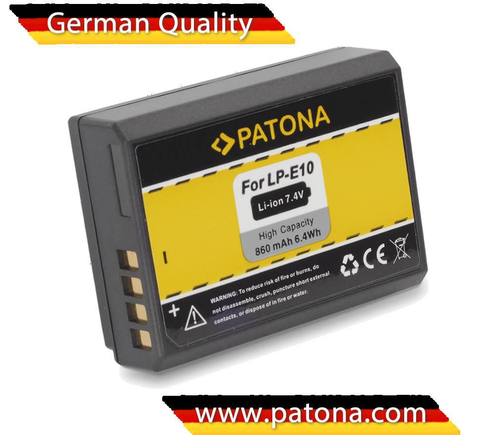 Batteria PATONA lp-e10 860 mAh
