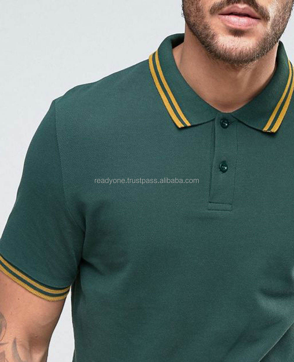 New Look Polo Shirt In Dark Green Men Shirts Cheap plain for men custom polo shirt design