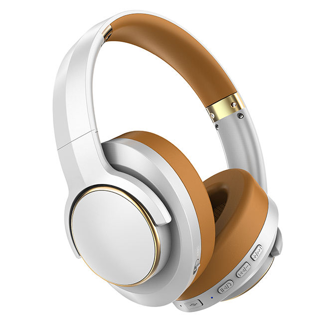 2020 Custom Brand Logo low moq Noise Reduction Active Noise Cancelling Wireless Bluetooth Headphones By OEM Headphone Factory