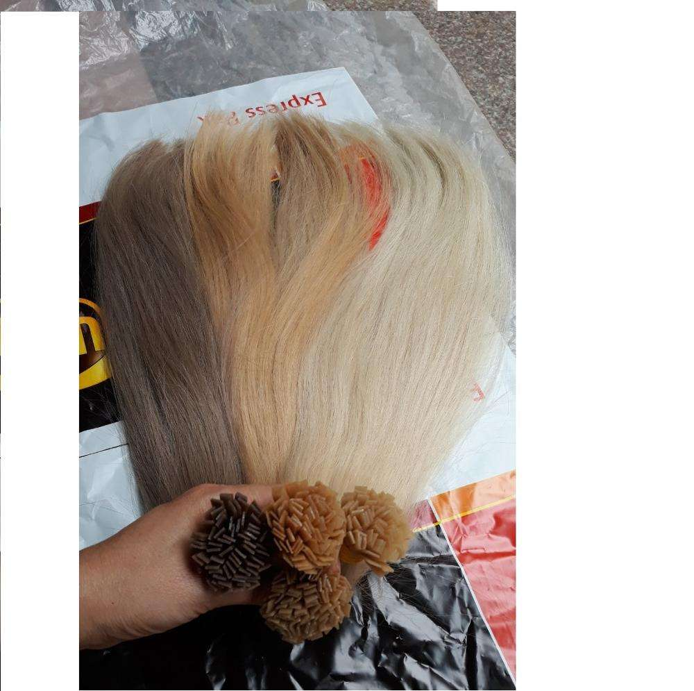 Flat tips, Russian color hair with high quality
